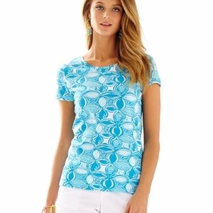 LILLY PULITZER KARRIE ARIEL WHAT A RACQUET TOP